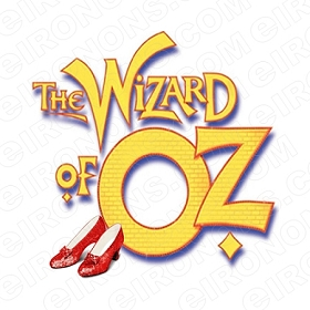 THE WIZARD OF OZ LOGO MOVIE T-SHIRT IRON-ON TRANSFER DECAL #MWOO9