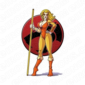 THUNDERCATS CHEETARA COMIC T-SHIRT IRON-ON TRANSFER DECAL #CTC2