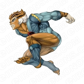 THUNDERCATS TIGRO JUMPING READY COMIC T-SHIRT IRON-ON TRANSFER DECAL #CTC14