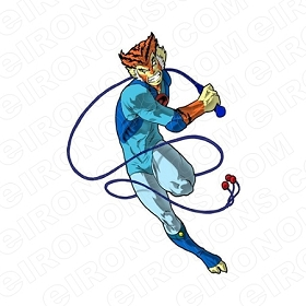 THUNDERCATS TIGRO WITH WHIP COMIC T-SHIRT IRON-ON TRANSFER DECAL #CTC15