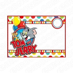 TOM & JERRY BLANK EDITABLE INVITATION INSTANT DOWNLOAD #ITAJ2