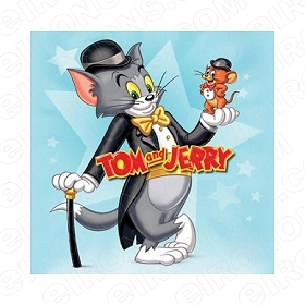 TOM & JERRY DRESSED UP CHARACTER T-SHIRT IRON-ON TRANSFER DECAL #CTJ10