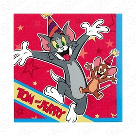 TOM & JERRY PARTY CHARACTER T-SHIRT IRON-ON TRANSFER DECAL #CTJ8
