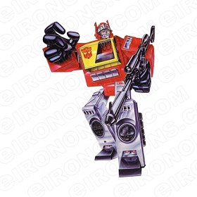 TRANSFORMERS BLASTER READY AUTOBOTS TV T-SHIRT IRON-ON TRANSFER DECAL #TVTS29