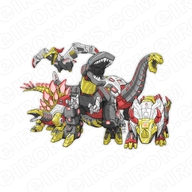 TRANSFORMERS DINOBOTS GROUP POSE AUTOBOTS TV T-SHIRT IRON-ON TRANSFER DECAL #TVTS26