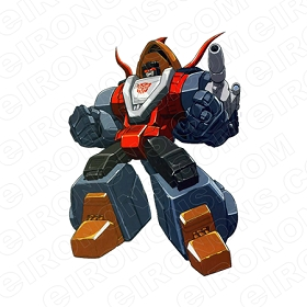 TRANSFORMERS DINOBOT SLAG FISTS OUT AUTOBOTS TV T-SHIRT IRON-ON TRANSFER DECAL #TVTS34
