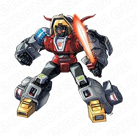 TRANSFORMERS DINOBOT SLAG WITH SWORD AUTOBOTS TV T-SHIRT IRON-ON TRANSFER DECAL #TVTS36