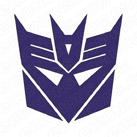 TRANSFORMERS LOGO DECEPTICONS TV T-SHIRT IRON-ON TRANSFER DECAL #TVTS38