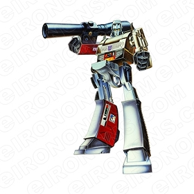 TRANSFORMERS MEGATRON AIMING DECEPTICON TV T-SHIRT IRON-ON TRANSFER DECAL #TVTS8