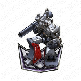 TRANSFORMERS MEGATRON ON DECEPTICON LOGO TV T-SHIRT IRON-ON TRANSFER DECAL #TVTS3