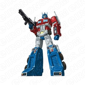TRANSFORMERS OPTIMUS PRIME AUTOBOTS TV T-SHIRT IRON-ON TRANSFER DECAL #TVTS2