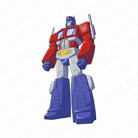 TRANSFORMERS OPTIMUS PRIME STANDING AUTOBOTS TV T-SHIRT IRON-ON TRANSFER DECAL #TVTS11