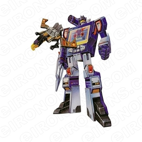 TRANSFORMERS SOUNDWAVE DECEPTICON TV T-SHIRT IRON-ON TRANSFER DECAL #TVTS1