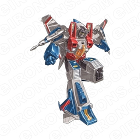 TRANSFORMERS STARSCREAM WALKING DECEPTICONS TV T-SHIRT IRON-ON TRANSFER DECAL #TVTS12