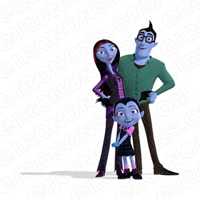 VAMPIRINA AND FAMILY CHARACTER T-SHIRT IRON-ON TRANSFER DECAL #CV1