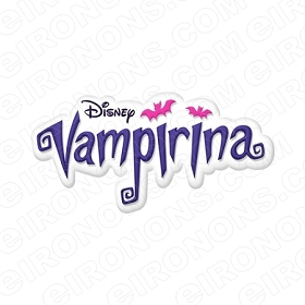 VAMPIRINA LOGO CHARACTER T-SHIRT IRON-ON TRANSFER DECAL #CV3