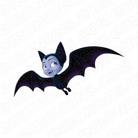 VAMPIRINA VEE HAUNTLY AS A BAT CHARACTER T-SHIRT IRON-ON TRANSFER DECAL #CV5