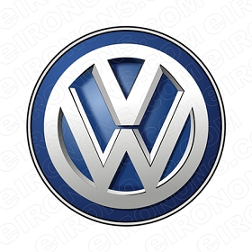VW LOGO AUTO T-SHIRT IRON-ON TRANSFER DECAL #AVW1
