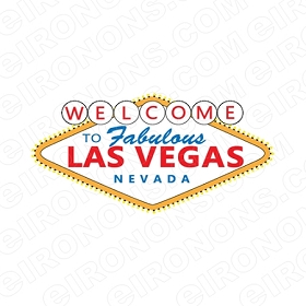 WELCOME TO FABULOUS LAS VEGAS NEVADA T-SHIRT IRON-ON TRANSFER DECAL #LVS1