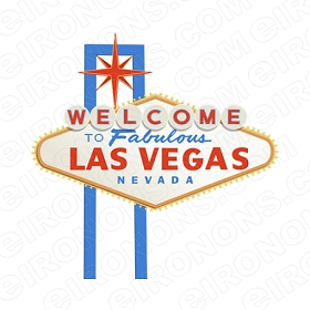 WELCOME TO FABULOUS LAS VEGAS NEVADA T-SHIRT IRON-ON TRANSFER DECAL #LVS3