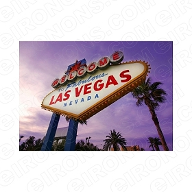 WELCOME TO FABULOUS LAS VEGAS NEVADA T-SHIRT IRON-ON TRANSFER DECAL #LVS9