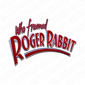 WHO FRAMED ROGER RABBIT LOGO MOVIE T-SHIRT IRON-ON TRANSFER DECAL #MWFRR7