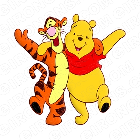 WINNIE THE POOH AND TIGGER TOO CHARACTER T-SHIRT IRON-ON TRANSFER DECAL #CWTP2