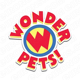 WONDER PETS LOGO CHARACTER T-SHIRT IRON-ON TRANSFER DECAL #CWP6