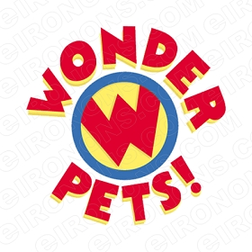 WONDER PETS LOGO CHARACTER T-SHIRT IRON-ON TRANSFER DECAL #CWP7