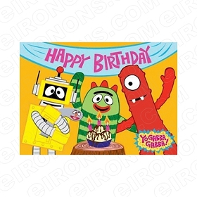 YO GABBA GABBA HAPPY BIRTHDAY CHARACTER T-SHIRT IRON-ON TRANSFER DECAL #CYGG4