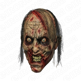 ZOMBIE MAD BIG HEAD HALLOWEEN T-SHIRT IRON-ON TRANSFER DECAL #HZBH4