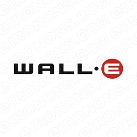 WALL-E LOGO MOVIE TV T-SHIRT IRON-ON TRANSFER DECAL #WE4