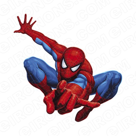 SPIDER-MAN COMING AT YOU COMIC T-SHIRT IRON-ON TRANSFER DECAL #CSM6