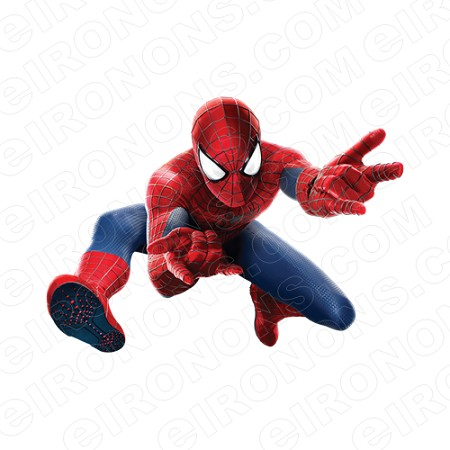 SPIDER-MAN FLINGING COMIC T-SHIRT IRON-ON TRANSFER DECAL #CSM8