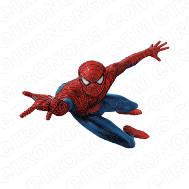 SPIDER-MAN SIDE COMIC T-SHIRT IRON-ON TRANSFER DECAL #CSM12
