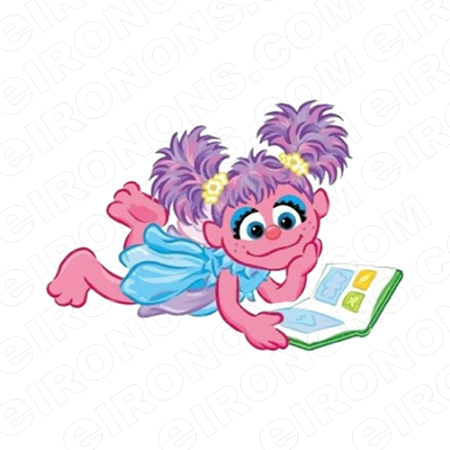 ABBY CADABBY READING CHARACTER T-SHIRT IRON-ON TRANSFER DECAL #CAC6