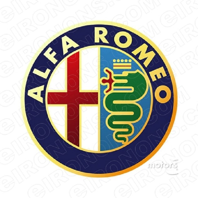 ALFA ROMEO LOGO AUTO T-SHIRT IRON-ON TRANSFER DECAL #AAR1