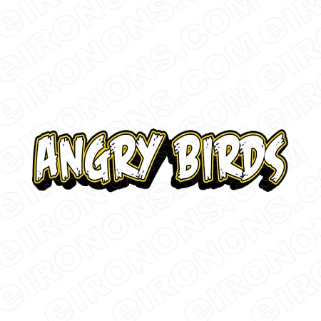 ANGRY BIRDS LOGO VIDEO GAME T-SHIRT IRON-ON TRANSFER DECAL #VAB6