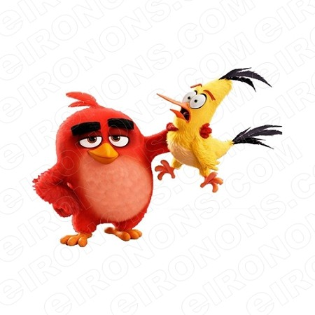 fff515a9 ANGRY BIRDS RED AND CHUCK VIDEO GAME T-SHIRT IRON-ON TRANSFER DECAL ...