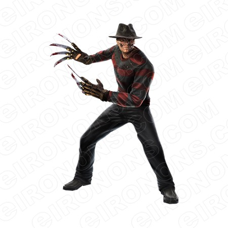 A NIGHTMARE ON ELM STREET FREDDY KRUEGER ARMS OUT MOVIE T-SHIRT IRON-ON TRANSFER DECAL #NMOES2