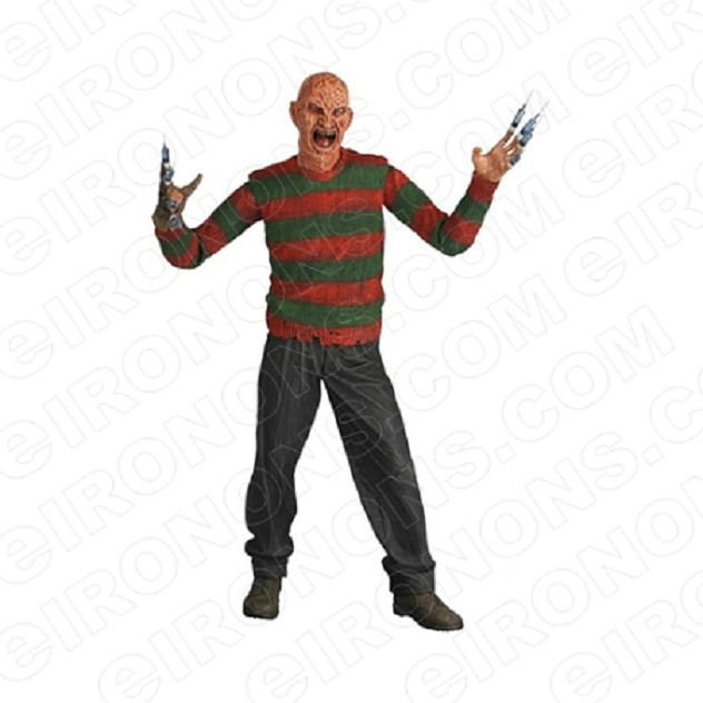 A NIGHTMARE ON ELM STREET FREDDY KRUEGER ARMS OUT MOVIE T-SHIRT IRON-ON TRANSFER DECAL #NMOES6