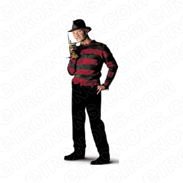 A NIGHTMARE ON ELM STREET FREDDY KRUEGER THINKING MOVIE T-SHIRT IRON-ON TRANSFER DECAL #NMOES1