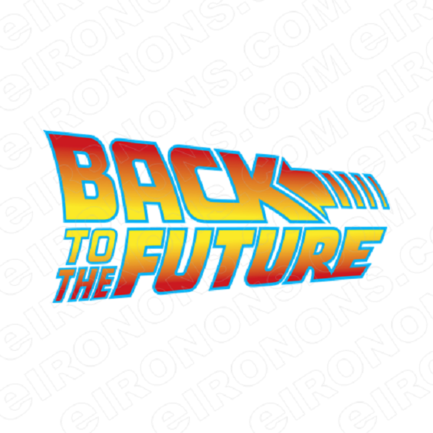 BACK TO THE FUTURE LOGO MOVIE T-SHIRT IRON-ON TRANSFER DECAL #MBTTF3
