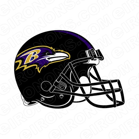 BALTIMORE RAVENS  HELMET SPORTS NFL FOOTBALL T-SHIRT IRON-ON TRANSFER DECAL #SFBR1