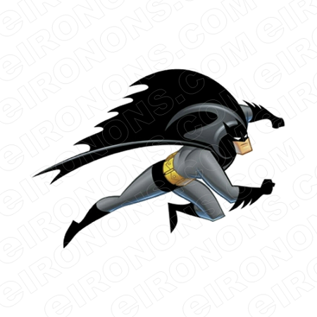 BATMAN ARMS OUT COMIC T-SHIRT IRON-ON TRANSFER DECAL #CBM8