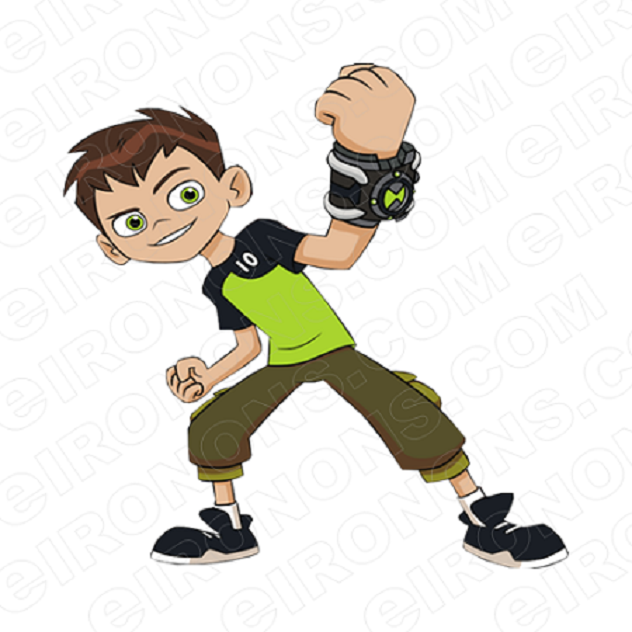 BEN 10 BEN FIST OUT CHARACTER T-SHIRT IRON-ON TRANSFER DECAL #CB10 2