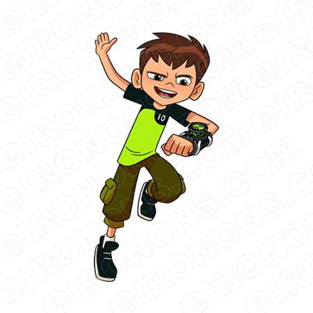 BEN 10 BEN READY CHARACTER T-SHIRT IRON-ON TRANSFER DECAL #CB10 3