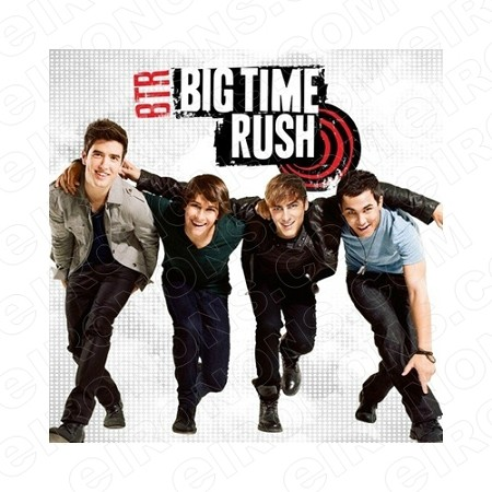 BIG TIME RUSH GROUP POSE MUSIC T-SHIRT IRON-ON TRANSFER DECAL #MBTR3