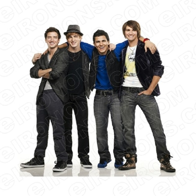 BIG TIME RUSH GROUP POSE MUSIC T-SHIRT IRON-ON TRANSFER DECAL #MBTR7