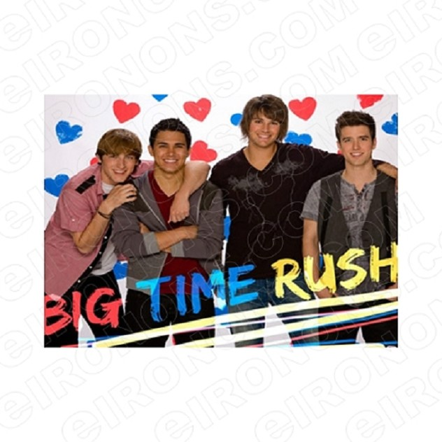 BIG TIME RUSH GROUP POSE MUSIC T-SHIRT IRON-ON TRANSFER DECAL #MBTR8
